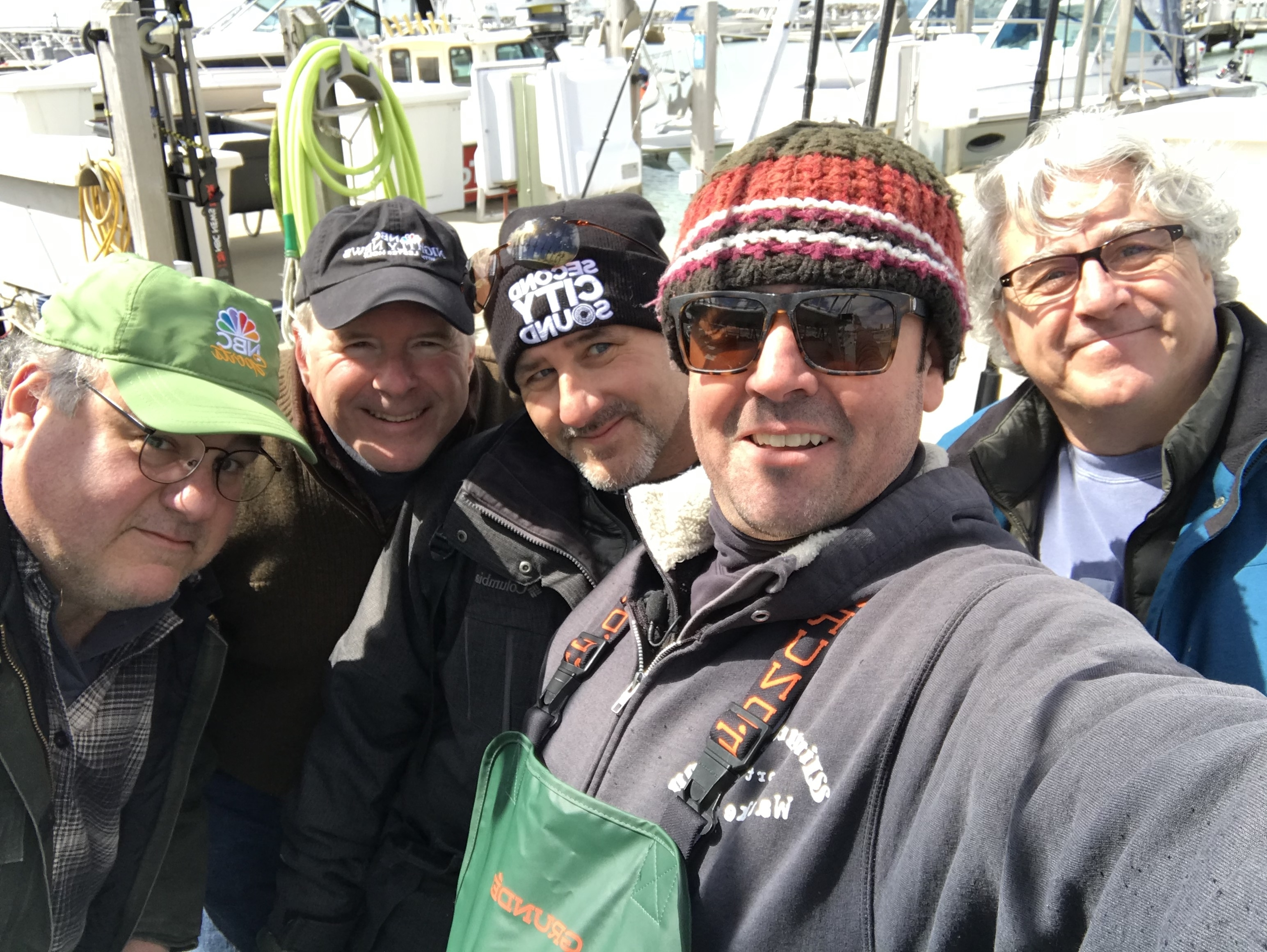 Capt Rick and NBC production crew